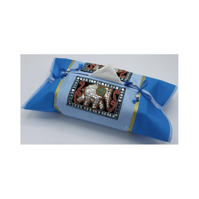 Housse en soie pour boîte à mouchoirs
